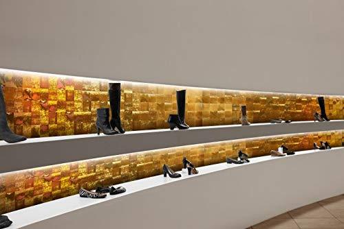Revestimiento mural vintage WallFace 19020 LUXURY HOLOGRAFICO Panel decorativo liso de aspecto metal holográfico autoadhesivo oro 2,6 m2: Amazon.es: ...