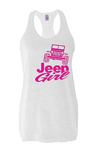 Acacia Jeep Girl - Best Selling Popular Gifts Series Ladies Slim Fit Racerback Tank