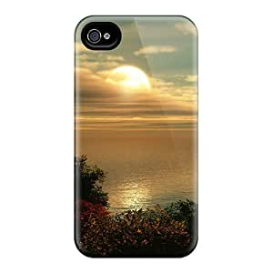 Iphone 4/4s Case Slim [ultra Fit] Great Sunset Protective Case Cover