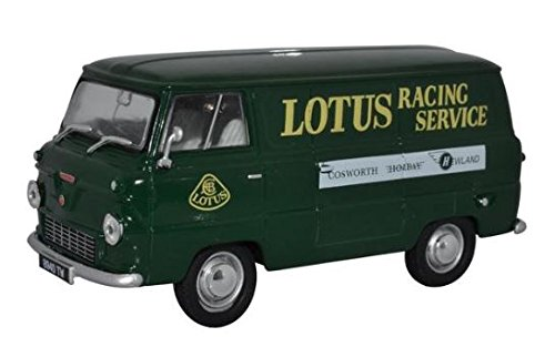 Van Thames (Oxford Diecast 43FDE017 Ford Thames 400E Van Lotus Racing Service 1:43 (O) Scale Diecast Model)