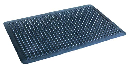 Iron Gate - 2 Piece Anti-Fatigue Rubber Bubble Mat - 100% Solid Rubber - Size 24x36 - Heavy Duty Rugged Commercial Professional Grade Construction