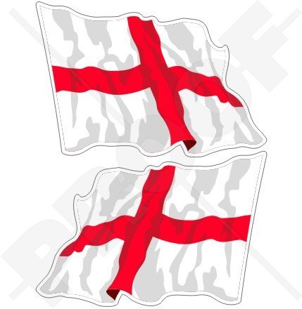 George English Flag (ENGLAND English Waving Flag St George's Cross Britain UK 3