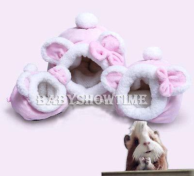 FidgetGear Hammock Ferret Rabbit Guinea Pig Rat Hamster Squirrel Mice Bed Toy House Pink L from FidgetGear