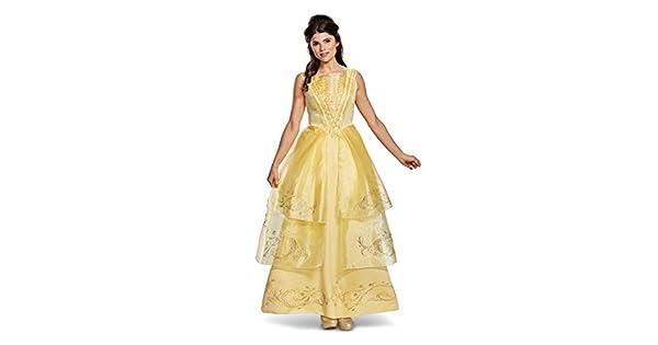 Amazon.com: Disney vestido de Bella para mujer de gran ...