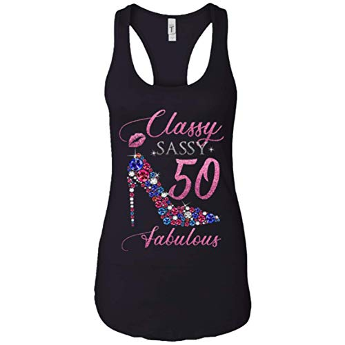 Classy Sassy 50 Fabulous Funny 50 Years Old Tank Top For Women 50th Birthday Gifts