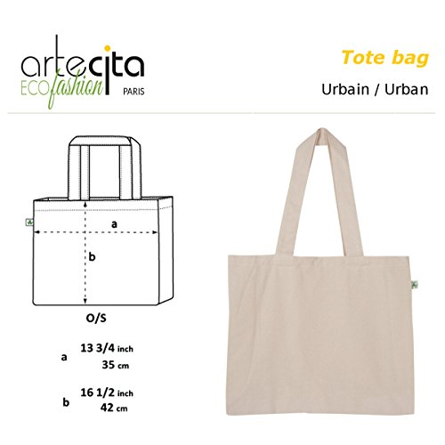 ArteCita ECO Fashion , Borsa Messenger  Unisex �?Adulto beige ecru Taille Unique
