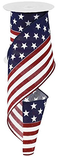 Stars & Stripes Flag Wired Edge Ribbon - 4