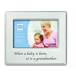 Prinz 6 by 4-Inch Family Ties Grandmother Silver Metal Frame