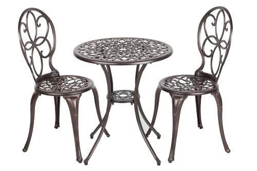 Patio Sense 3-Piece Antique Bronze Cast Aluminum Bistro Set (item_by#map-discounts ()