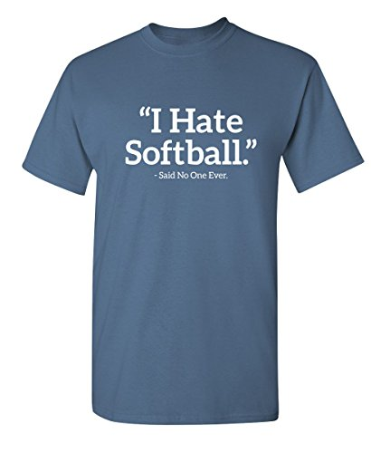 ate Softball Said No One Sports Sarcastic Funny Novelty Graphic T Shirt M Dusk ()