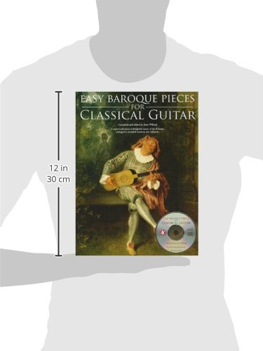 Easy Baroque Pieces For Classical Guitar (Book & CD): Amazon.es ...