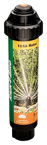 Rain Bird 12SAH High-Efficiency Mini Rotary Pop-Up Spray, 180° Half Circle Pattern, 13' - 18' Spray Distance, 4'' Pop-up Height
