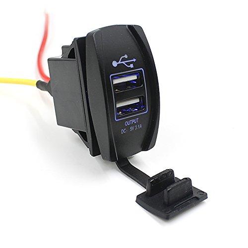 26 opinioni per TurnRaise 12-24V Moto Auto Barca Dual USB Caricatore porta Alimentazione Presa