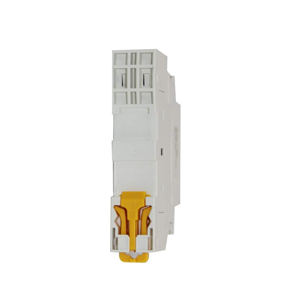 220 S/érie 2 P 16A//20A//25A Manuel dutilisation Contacteur modulaire /à rail DIN domestique Contacteurs 2NO//1NO 1NC//2NC 16A, 2NC