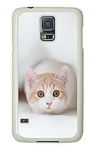 Samsung Galaxy S5 Cute Cat Pics 01 PC Custom Samsung Galaxy S5 Case Cover White
