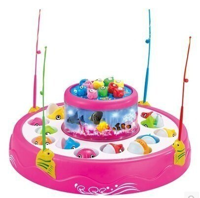 FunBlast Fish Catching Game Big with 26 Fishes and 4 Pods, with Music and Lights for Kids,Boys,Girls