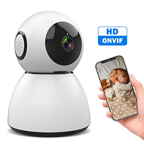 Wireless IP Camera, M WAY 1080P Indoor WiFi Camera, Pan/Tilt/Zoom Dog Camera, Two Way Audio Motion Detection Baby Monitor, Night Vision Pet Camera with Phone APP