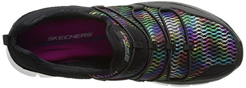 Skechers Sport Womens Star Quality Mode Sneaker Svart / Multi