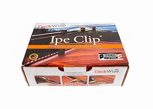 DeckWise Ipe Clip EXTREMEKD Hidden Deck Fasteners, 1/4