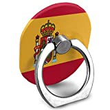 Cell Phone Holder Spain Flag Long Tail Ring Mobile Phone Holder Adjustable 360° Rotation Finger Ring Stand for IPad, Kindle, Phone X/6/6s/7/8/8 Plus/7, Divi, Accessories Desk, Android Smartphone