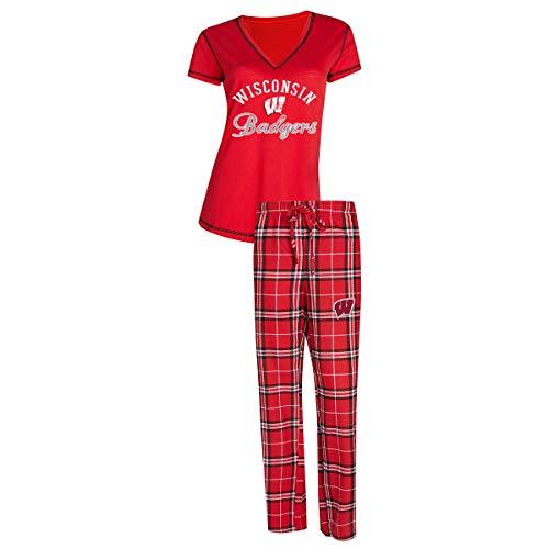 Concepts Sport University of Wisconsin Badgers Women's Pajama Set Duo Sleep Set ()