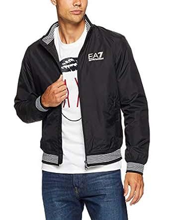 EA7 Emporio Armani Men's Jacket Long Sleeve, Black, L