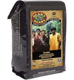 Dean's Beans Organic Coffee Company, Peruvian Single Origin, Ground, 16 Ounce Bag (Organic, Fair Trade and Kosher Certified)