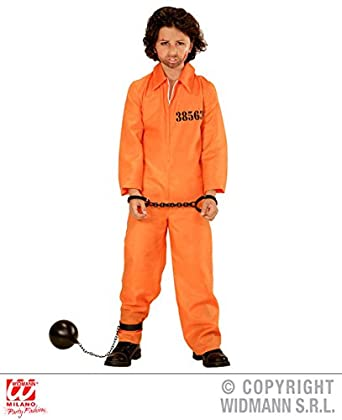 L Boys COUNTY JAIL INMATE Costume for Prison Prisoner Inmate Convict Fancy Dress Outfit Large 140cm  sc 1 st  Amazon UK & L Boys COUNTY JAIL INMATE Costume for Prison Prisoner Inmate Convict ...