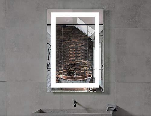 MAVISEVER 24x36 Inch Hilton LED Lighted Bathroom Vanity Mirror with Defogger, 6500K -
