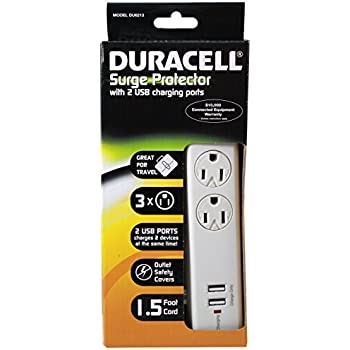 Amazon Com Duracell Dual Usb Surge Strip Charger For