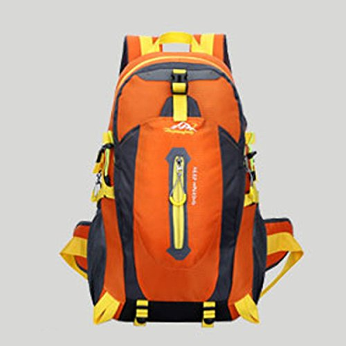 LQABW Alpinismo Al Aire Libre Del Hombro Hombres Mujeres Impermeable Ocio Paquete 65L De Gran Capacidad De Bolsa De Viaje Mochila 40L,Green Orange