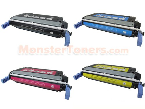 4-Pack HP Comaptible CB400A, CB401A, CB402A, CB403A Toner Cartridge Set for Color LaserJet CP4005 (BK, C, M, Y)