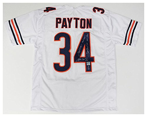 Walter Payton Signed Autograph/Inscribed Mvp Hof Bears Stat Jersey Payton Coa - Certified (Walter Payton Autographed Jersey)