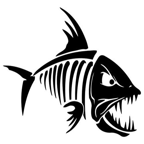 (Ross Stores Fish Skeleton Sportsman Hunting - Sticker Graphic - Auto, Wall, Laptop, Cell, Truck Sticker for Windows, Cars, Trucks)