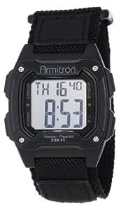 Armitron Sport Men's 40/8263BLK Black Velcro Strap Square Digital Chronograph Watch