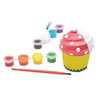 Melissa & Doug Decorate-Your-Own Cupcake Bank Craft Kit With 8 Pots of Paint and Paintbrush (Great Gift for Girls and Boys - Best for 8, 9, 10, 11, 12 Year Olds and Up): Melissa & Doug: Toys & Games