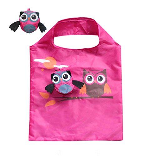Price comparison product image Goodlock Foldable Reusable Carry Bags Owl Folding Shopping Animal Environmental Handbags Creative Cute Bags (G)