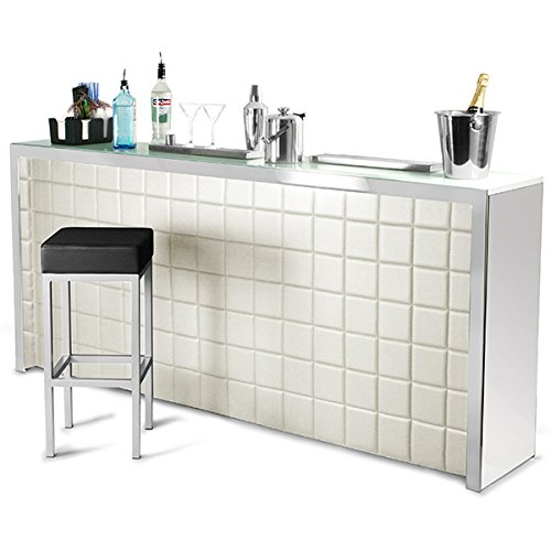 Bar Drinkstuff Large Hollywood Home Bar Counter With Cream Faux