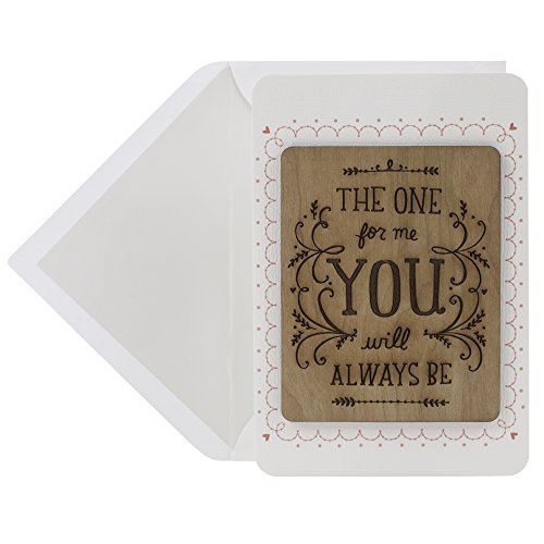 Hallmark Signature Valentine's Day Card for Significant Other (Etched Wood Quote, Always You)
