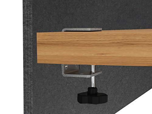 "VaRoom Acoustic Partition, Sound Absorbing Desk Divider – 24"" W x 24""H Privacy Desk Mounted Cubicle Panel, Slate Grey by VaRoom (Image #2)"
