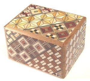 Yosegi Puzzle Box 2.5 sun 12 steps Japanese Puzzle Box