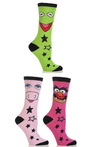 SockShop Women's 3 Pair Muppets Socks 7-9 Multicolored]()