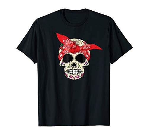 Hear No Evil Sugar Skull T-Shirt Halloween Day Of The Dead -