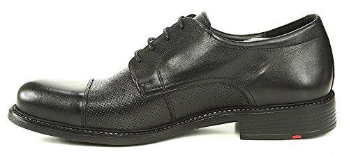 LLoyd Tango Schnürschuh schwarz perforiert, Farbe:schwarz;Größe:42