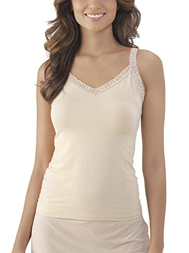 Vanity Fair Women's Plus Size Perfect Lace Spincami Camisole 17166, Damask Neutral, Medium