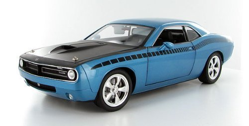 Highway 61 1/18 'Cuda Concept B5 Car - Blue w/Black AAR Stripe: Supercar Coll... by Highway 61 Collectibles