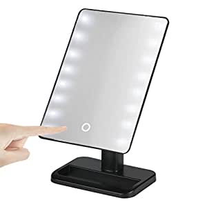 creazy 20 led lights vanity makeup mirror touch screen lighted t. Black Bedroom Furniture Sets. Home Design Ideas