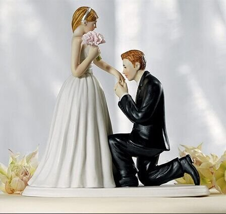 Willow Tree Bride and Groom Wedding Cake Topper Sweet Proposal.