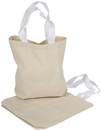 Kangaroos 8 X 8 Natural Color 100% Cotton Canvas Tote Bags (18 Pack) ()