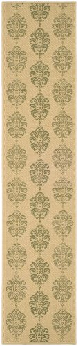 Safavieh Courtyard Collection CY2720-1E01 Natural and Olive Indoor/ Outdoor Runner (2'3